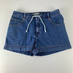 GAP Jeans sz 6 High Waist Shorts Front Tie Mini